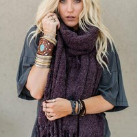 Fall in Love Blanket Scarf - Plum