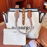 Burberry New fashion letter print canvas shoulder bag handbag two piece suit