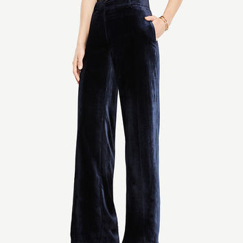 Petite Velvet Smoking Pants | Ann Taylor