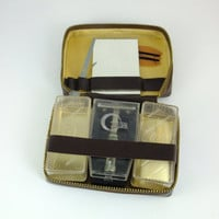 Vintage Compact Small Travel Shaving Set, Father's day Gift, Cristmas Gift For Him