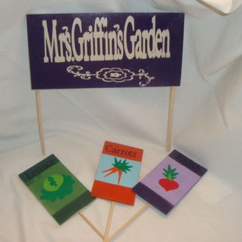 Vegetable Garden markers and sign kit.