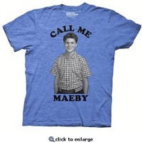 Arrested Development Call Me Maeby Adult Heather Blue T-shirt - Arrested Development - Free Shipping on orders over $60 | TV Store Online