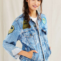 Urban Renewal Recycled Three Patch Denim Jacket - Urban Outfitters
