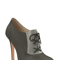Women's Shoes of Prey Brogue Leather Bootie,
