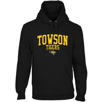 Towson Tigers Team Arch Pullover Hoodie - Black
