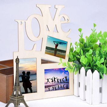 SAE Fortion Love Photo Frame Rahmen with 3 Photoes  Lovers Gift Wooden Good Use Photo Frame Marco de fotos Home Decoration MS094