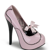 Bordello Teeze Pink & Black Patent Stilettos