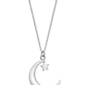 Studio Silver Crescent Moon Pendant Necklace in Sterling Silver