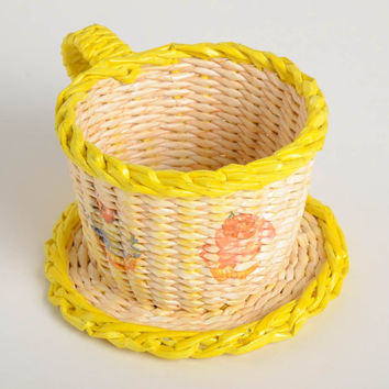 Shop Woven Paper Baskets On Wanelo