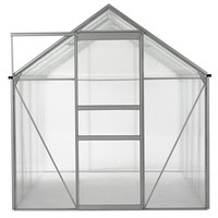 Ogrow OGAL-866 Walk-in Lawn and Garden Greenhouse with Heavy Duty Aluminum Frame - Clear, 6 x 8 ft.