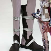 Final Fantasy XIII FF13 Lightning Cosplay Boots Shoes Color A Custom made