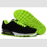 NIKE leisure sports running shoes Black fluorescent green