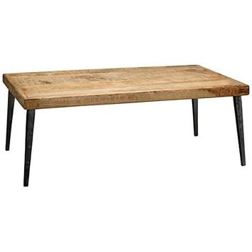 Jamie Young Farmhouse Hand-Worked Wood Coffee Table - #20T50 | Lamps Plus