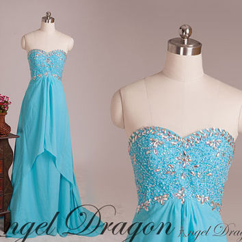 Long Beading Prom Dresses ,Sexy Party Dresses, cheap Homecoming Dresses ,Beading Evening Dresses,Party Dresses,chiffon Prom Dress