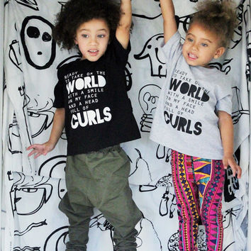 Ready to Take on the World Tee - Baby Tee Shirt - Baby T Shirt - Toddler T Shirt - Toddler Tee - Crewneck Shirt - First Day of School Tee