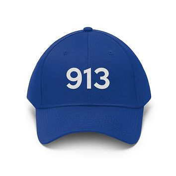 Illinois 913 Area Code Embroidered Twill Hat