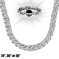 """Iced Out 24"""", 30"""" or 36"""" Necklace (n003)"""