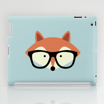 Hipster Red Fox 2 iPad Case by heartlocked