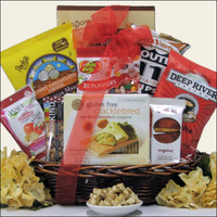Gluten Free: Gourmet Red Yellow Gift Basket, Great Arrivals DHGF