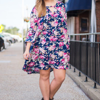 Fancy Seeing You Here Dress, Navy