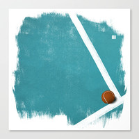 Tennis Canvas Print by Matt Irving