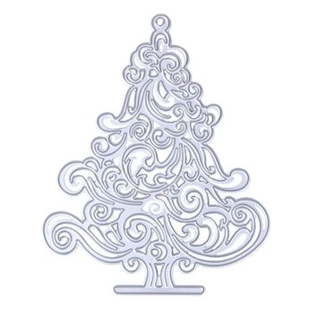 Christmas Tree Metal Die cutting Dies For DIY Scrapbooking Photo Album Decorative Embossing Folder Stencil 12.5 x 10.2cm