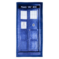 Doctor Who TARDIS Door Bath or Beach Towel