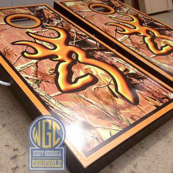 Browning Full Camo Custom Cornhole Boards