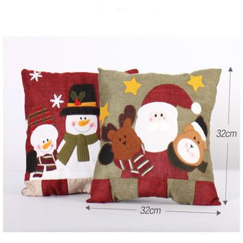 Christmas Decorations Pillows cushion Santa Claus Snowman Family Christmas Pillow for Bedroom living room ornament supply