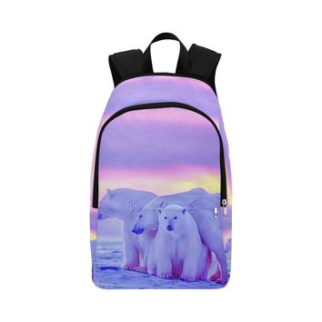 Canadian Arctic Sunset Fabric Backpack