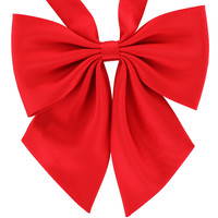 Tok Tok Designs Women's Pre-Tied Bow Tie (W15, Royal Red)