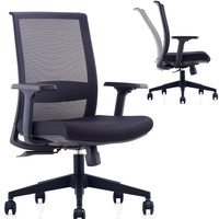 CMO 360 Degree Swivel Mesh Desk Computer Chair with Synchro Tilt Mechanism & Adjustable Armrest for Office Home and Conference Room