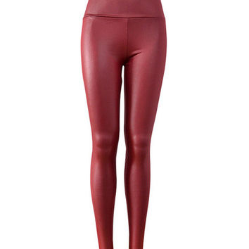 High Expectations Leggings - Maroon