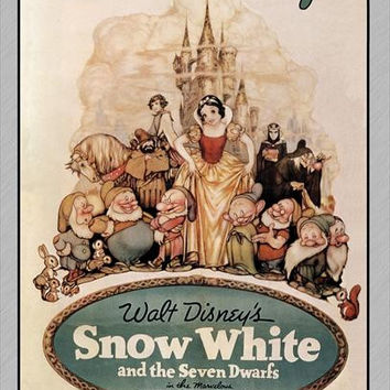 Snow White and the Seven Dwarfs 27x40 Movie Poster (1937)
