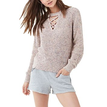 Cross Front Pullover Sweater