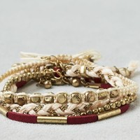 AEO Women's Maroon, Gold & Cream Arm Party (Multi)