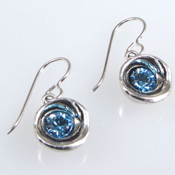 Patricia Locke Jewelry - Shelly Earrings in Aquamarine