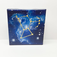 Constellation Painting, Orion Art, Space Painting, Galaxy Art, Acrylic Painting, Square Canvas, Original Art, Boys Room, Gift Idea,