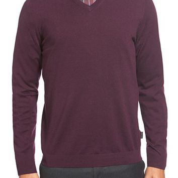 Men's Ted Baker London 'Batatak' Slim Fit Merino Wool V-Neck Sweater,