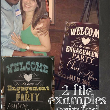 Welcome to our engagement party sign, custom engagement signs, unique engagement sign, modern engagement party decor ideas, SGNWED06