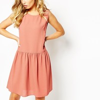 Boss Orange Drop Waist Apiumi Dress in Pink