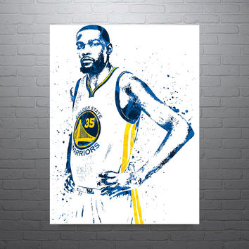 Kevin Durant Golden State Warriors Away Poster