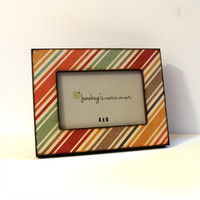 4x6 Photo Frame Fall Stripes