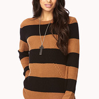 Striped Geo Pattern Sweater | FOREVER 21 - 2030186267