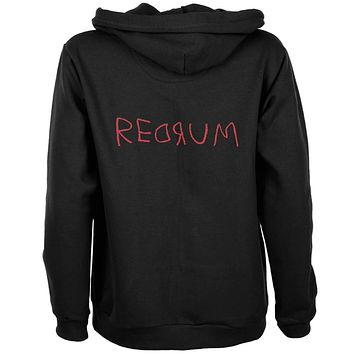 Halloween Horror Redrum Womens Full Zip Hoodie