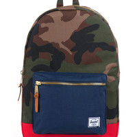 Herschel Supply Co. - Settlement Backpack (Woodland Camo/Navy/Red)
