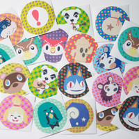 Animal Crossing Sticker Set - Video Game Stickers - Cute Animal Stickers - Stationary Set