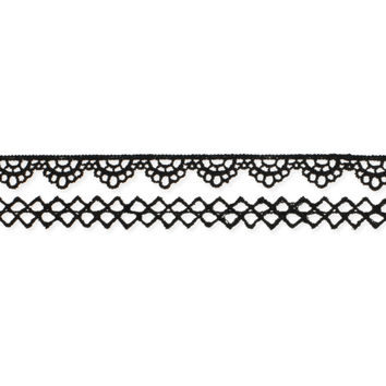 Thin Black Lace Choker