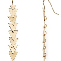 Robert Lee Morris Soho Linear Triangle Drop Earrings
