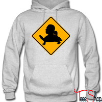 Tortuga head road sign hoodie